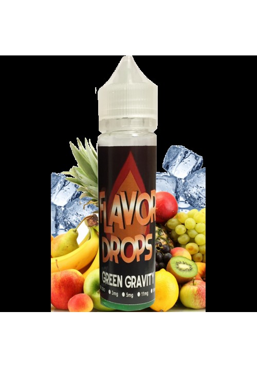 E-liquide green gravity 50ml flavor drops