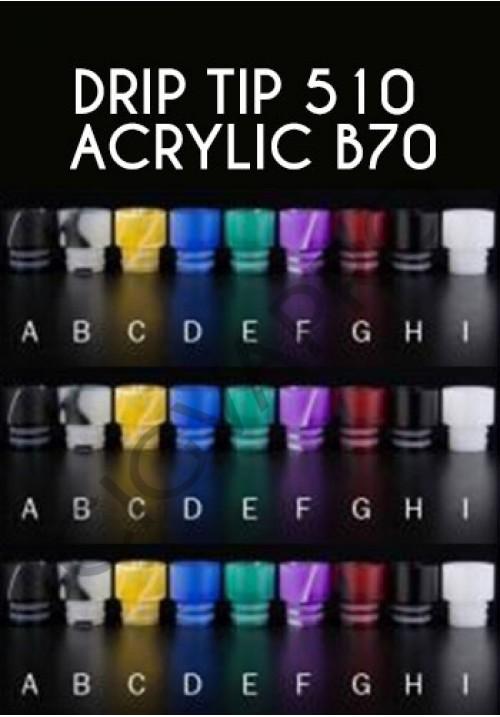 Drip tip 510 Acrylic b70