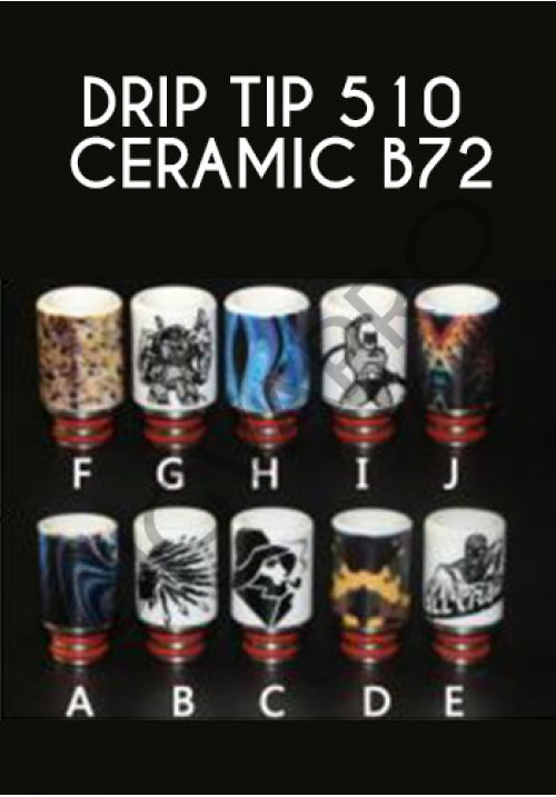 Drip tip 510 Ceramic B72