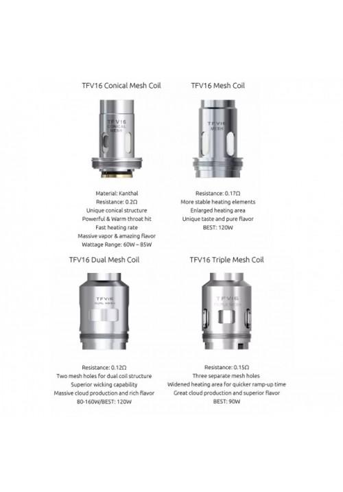 Qua - Resistances TFV16 Mesh  - Smok